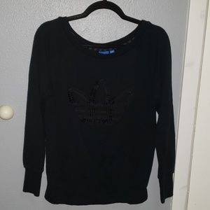 All Black adidas Long Sleeve Sweater
